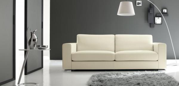 Divani moderni in pelle divani e divani letto su misura for Divani brianza design